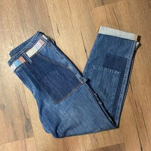 Pilcro and the Letterpress HighRise Patchwork Jean